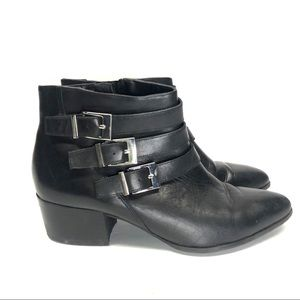 Via Spiga Black leather ankle boots size 10